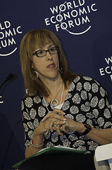 Me, speaking at the World Economic Forum